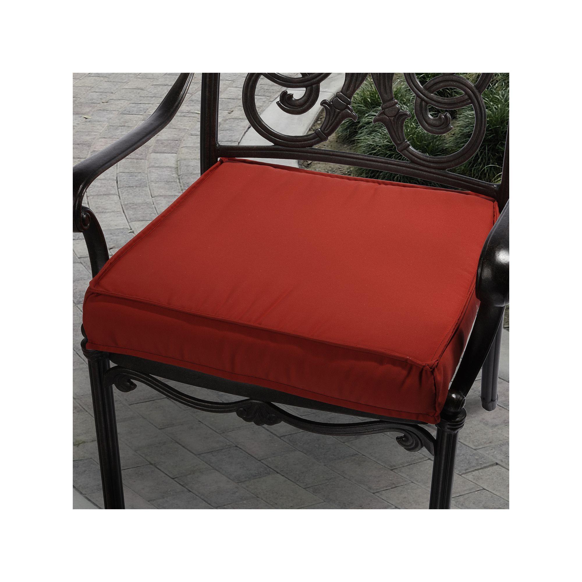 Mozaic Sunbrella 19 In Canvas Outdoor Chair Cushion Red
