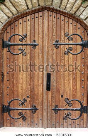 Decorative iron door strappingDecorative Iron DoorWrought