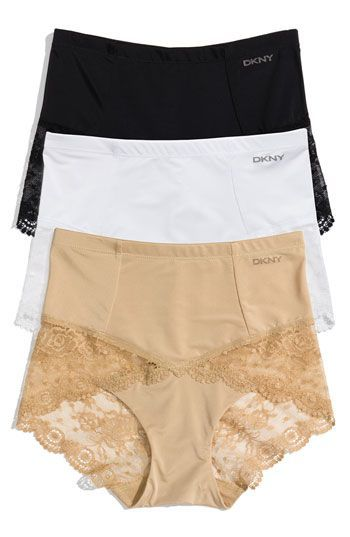 Sexy Granny Panties; DKNY 'Lace Curves' Shaping Brief!