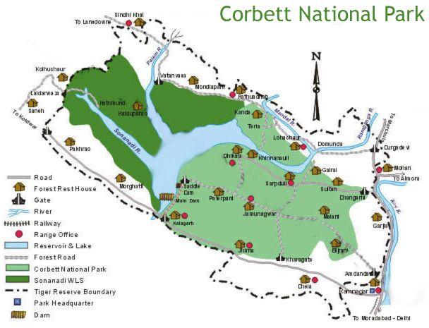 corbett national park map Jim Corbett National Park Map With Images National Parks Map corbett national park map