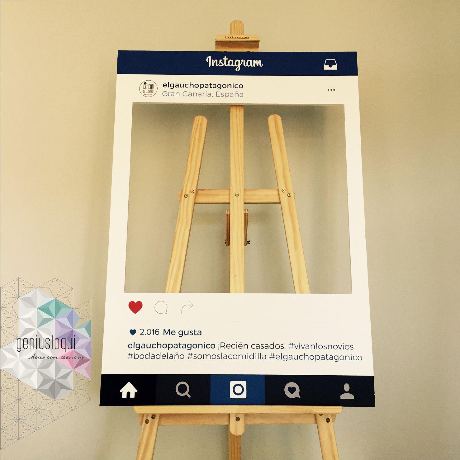 marco instagram para photocall
