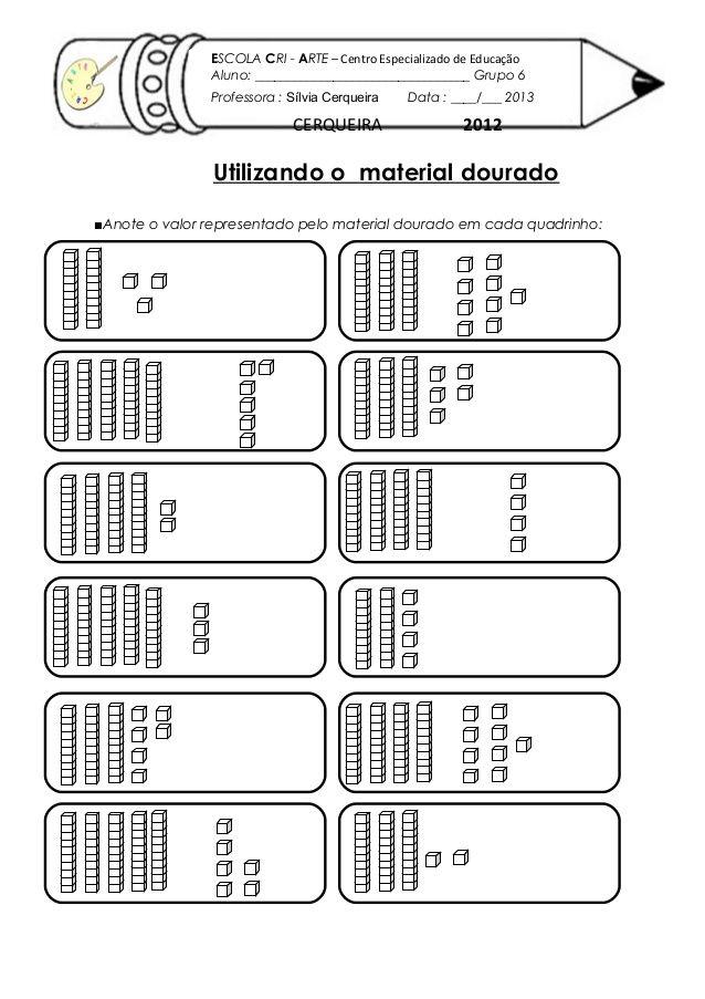 Ativiadade com-material-dourado | Atividades | Pinterest | Math ...