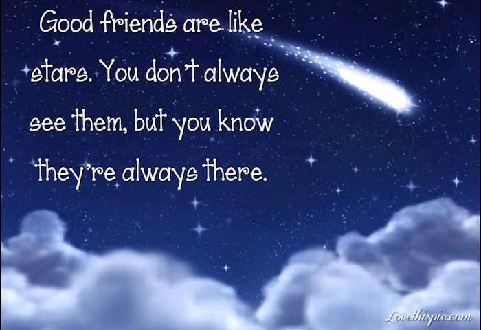Stars And Love Quotes: Good Friends Are Like Stars Quotes Cute Friendship Quote