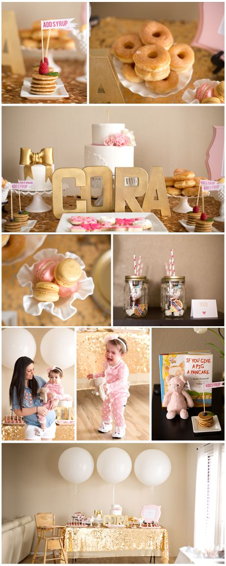 PJS PANCAKES FIRST BIRTHDAY PARTY Meagan Pinterest