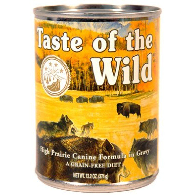 Taste of the wild high prairie can dog food case132 oz