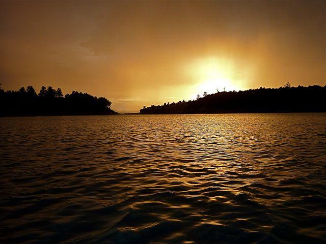 Heron Lake State Park  #sailing #heron #newmexicostatepark  #sunset