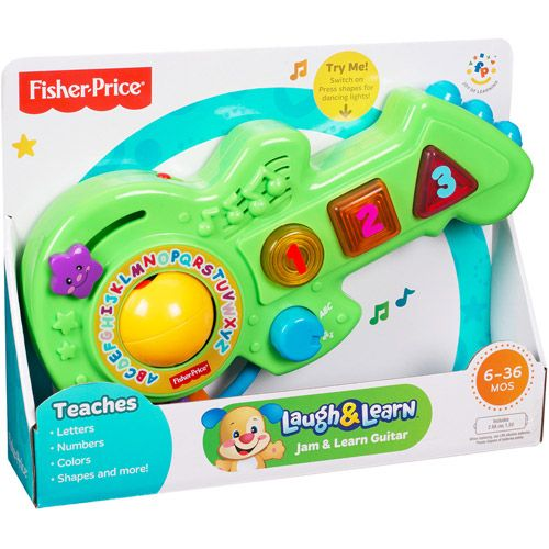 Walmart Learning Toys : Fisher price laugh learn jam guitar development