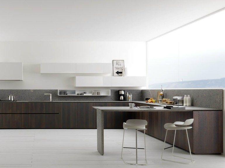 Lacquered oak kitchen Y Composition 01 by Zampieri Cucine design