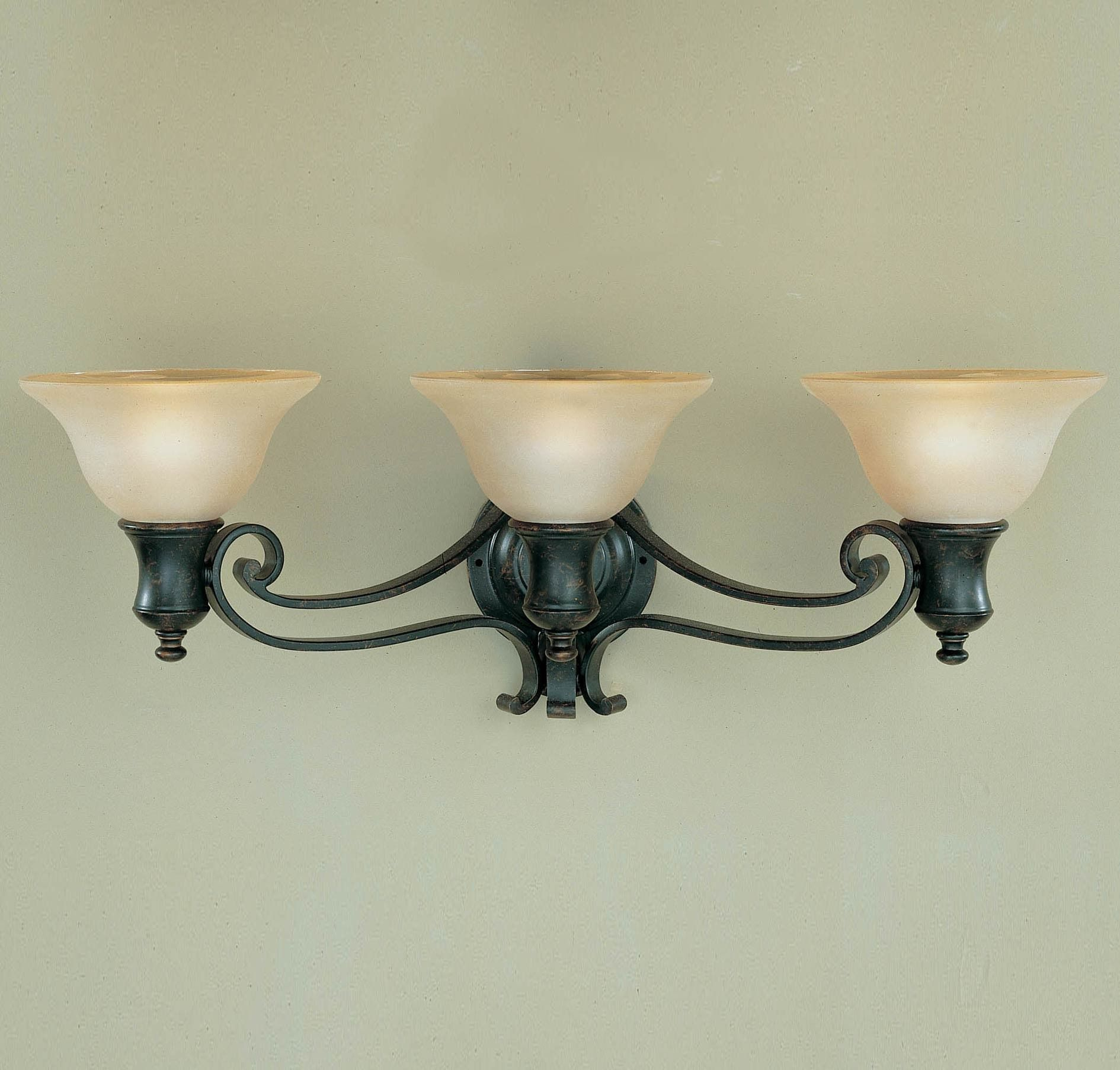 Feiss Cervantes 3-Light Vanity Fixture in Wall Lights, Bath Lights ...