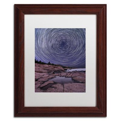 "Trademark Art 'Celestial Bullseye' by Michael Blanchette Framed Graphic Art Size: 14"" H x 11"" W x 0.5"" D, Matte Color: White"