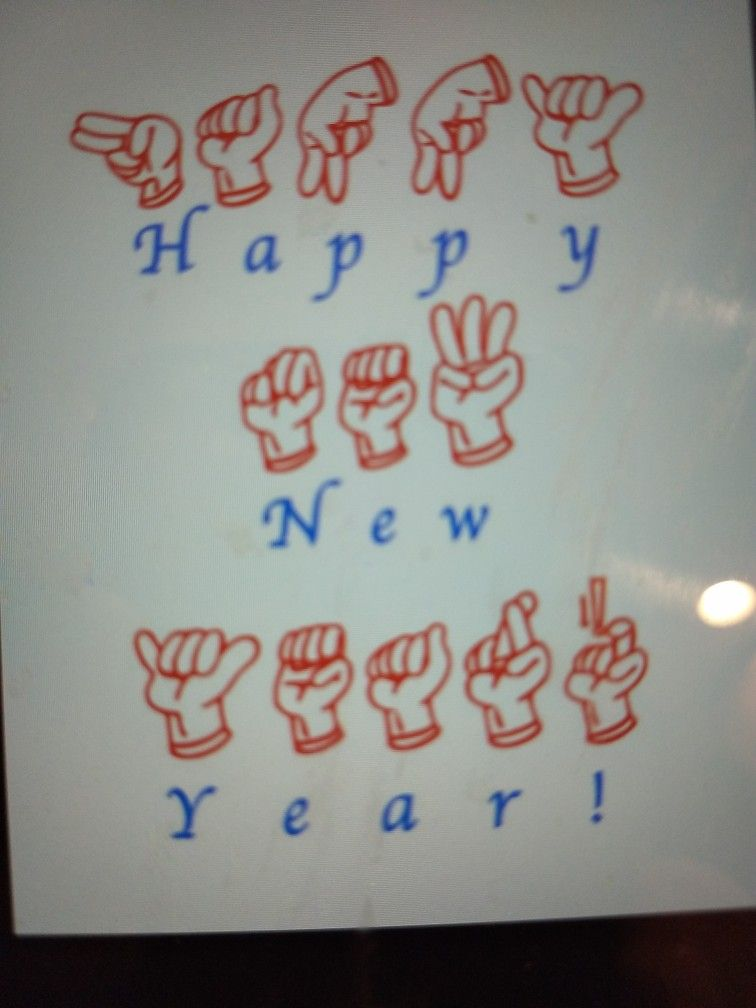 Happy New Year in Sign Language. Happy new year, Sign