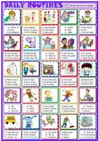 Here is a new worsheet in which students have to match the verbs with the right pictures to learn or revise usual action verbs; get up, wake up, have a shower, cook, play,  - ESL worksheets