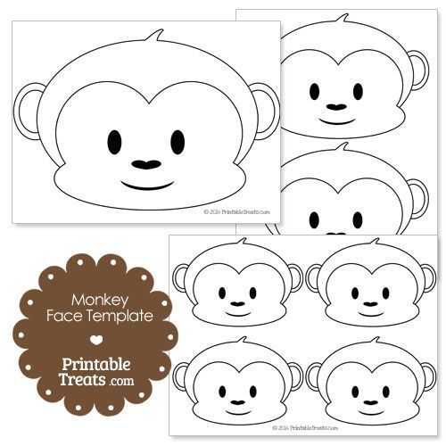 Printable Monkey Face Template Monkey First Birthday Monkey