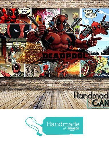 Deadpool Comic Book Box Framed Canvas Art Print from Handmade Canvas https://www.amazon.com/dp/B01DQZCEHC/ref=hnd_sw_r_pi_dp_DJfXyb6M8A0WE #handmadeatamazon