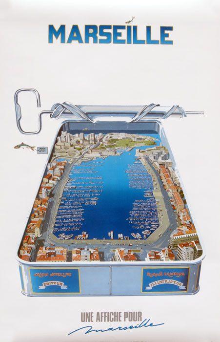 Affiche marseille richard campana sardines port marseille pinterest affiches marseille et - Sardine port de marseille ...