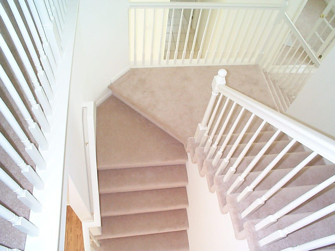 Beige Carpeted Stairs Top View Loft conversion, Buying