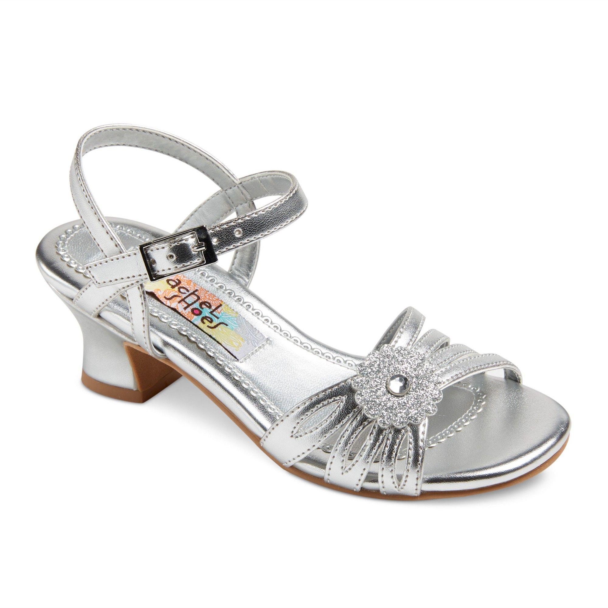 dc5a841818 Girls' Corrine Quarter Strap Gladiator Sandals Silver Metallic 13 - Rachel  Shoes