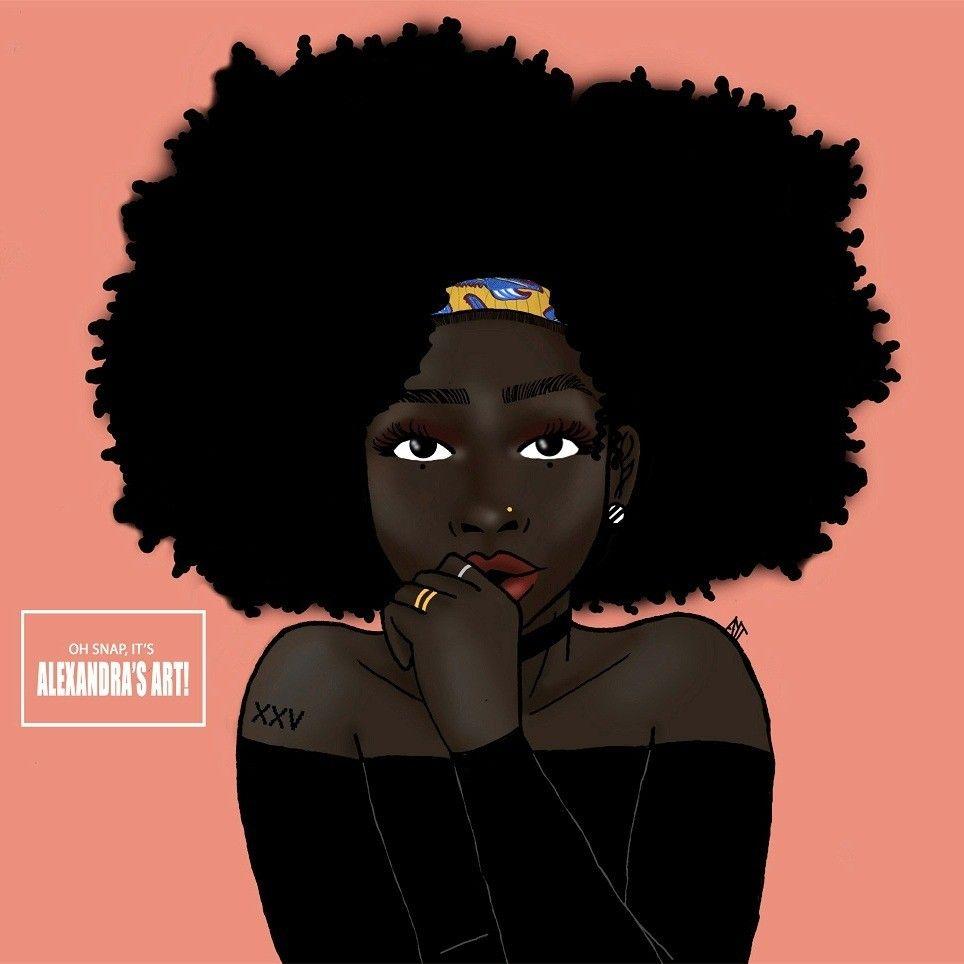 Lil Psycho Natural Hair Art Black Girl Art Art