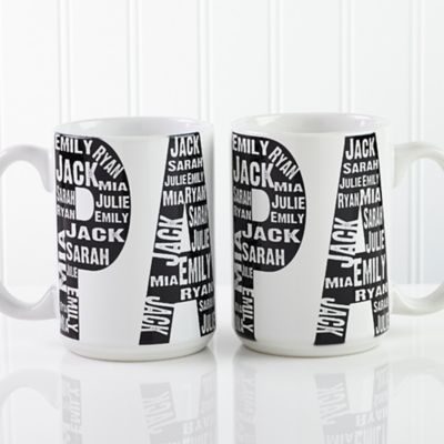 Repeating Name For Him 15 Oz Coffee Mug In White Buybuy Baby Mugs Coffee Mugs Large Coffee Mugs