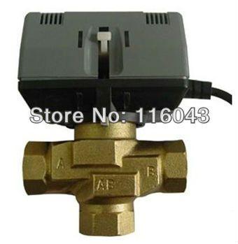3 4 Motorized 3 Way Valve For Fan Coil Cold Hot Water System 24vac 110vac 220vac 3 Wires Water Systems Hot Water System Valve