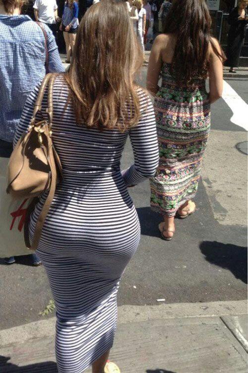Big ass in summer dress