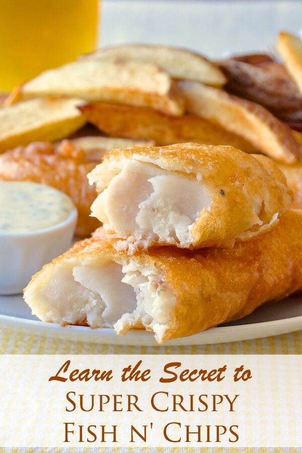 Super crispy fish and chips recipe batter recipe fish for Homemade fish fry