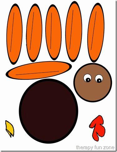 Scissor Cutting Turkey Template  Turkey Craft Turkey Colors And