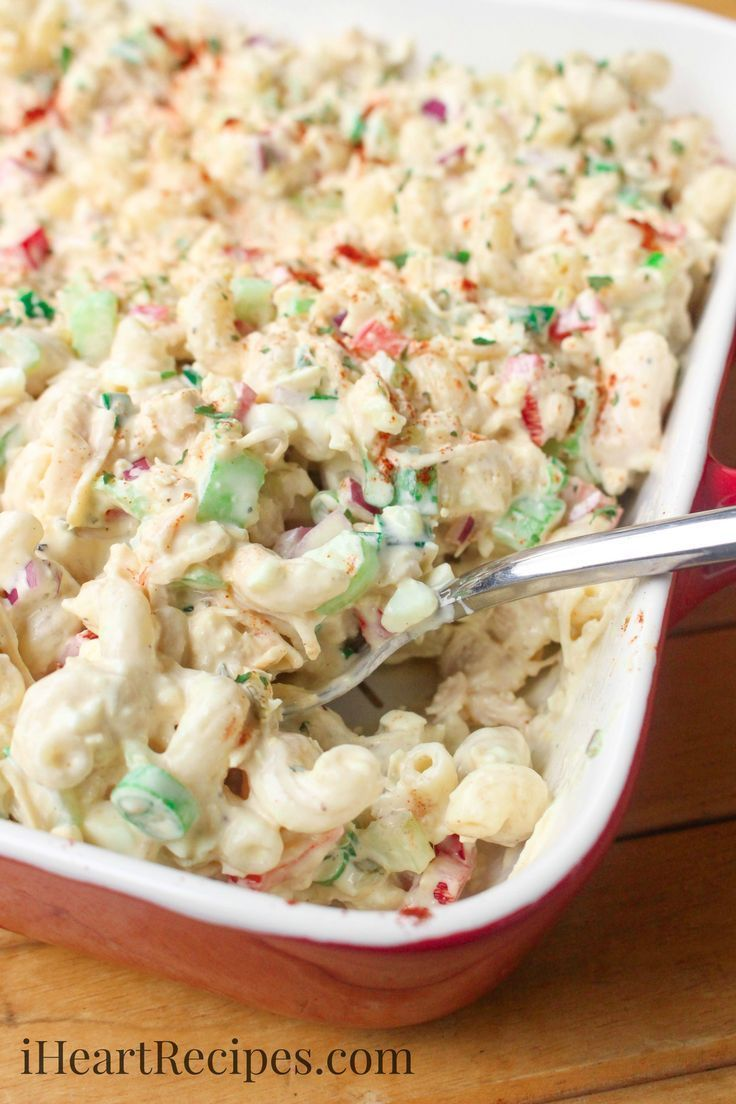 Cold Chicken Macaroni Salad I Heart Recipes Recipe Can Chicken Recipes Chicken Macaroni Salad Macaroni Salad Recipe
