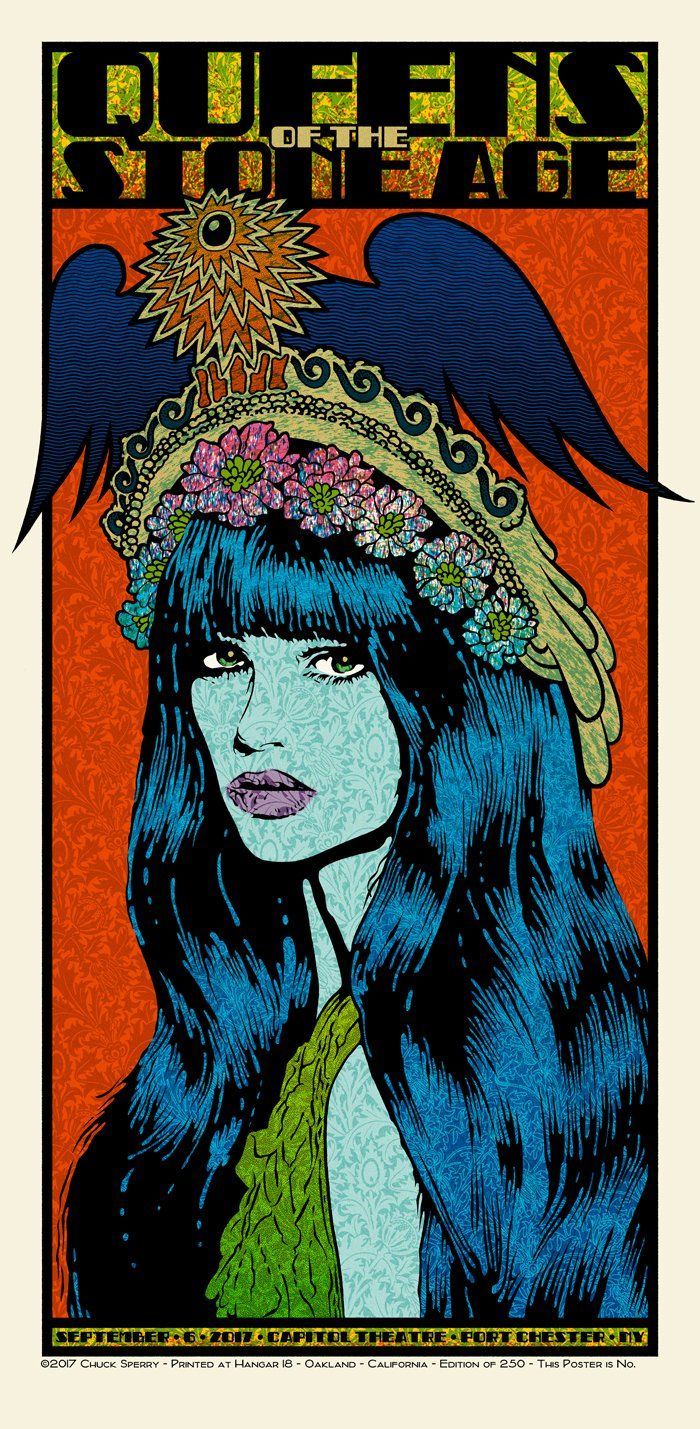 Queens of the Stone Age - Chuck Sperry - 2017 ---- | Concert Poster ...