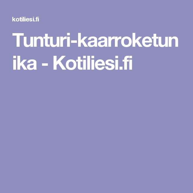 Tunturi-kaarroketunika - Kotiliesi.fi