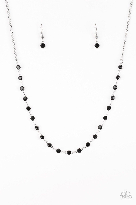 74cb6ba214e9 Party Like A Princess Black Necklace and Earring Set - Paparazzi ...