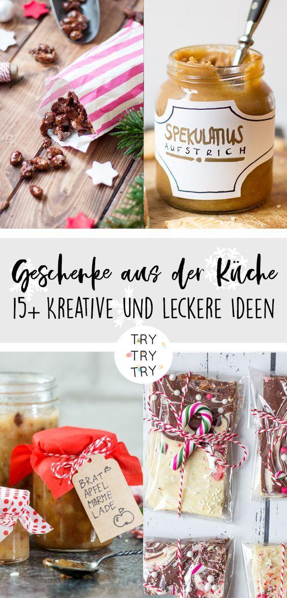15+ Geschenke aus der Küche // Foodgeschenke // Weihnachtsgeschenk // Weihnachtsgeschenke // selbstgemachtes Geschenk // DIY Geschenke // backen, kochen, basteln // Food-Geschenk #fooddiy