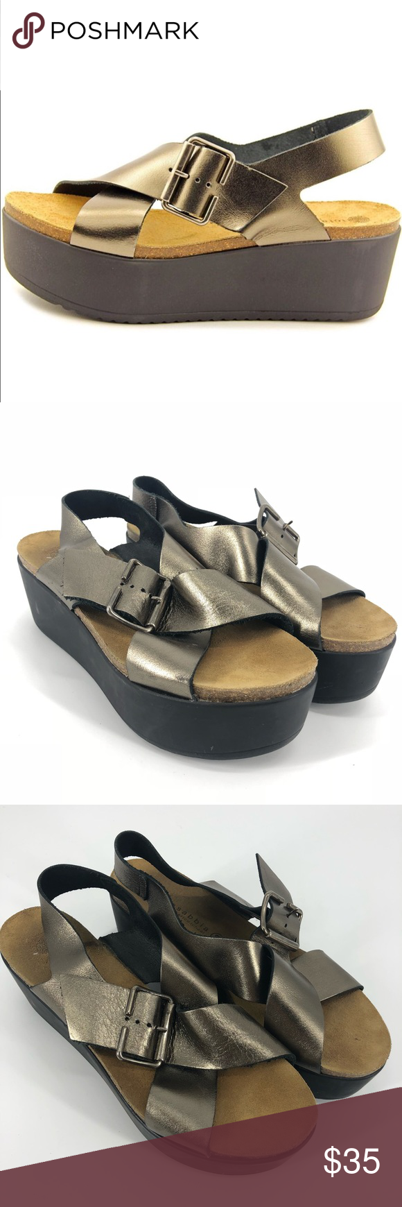 1653fe3b9ca2 Lola Sabbia Metallic Ramona Leather Sandal Lola Sabbia Women s Metallic  Ramona Open Toe Patent Leather Platform