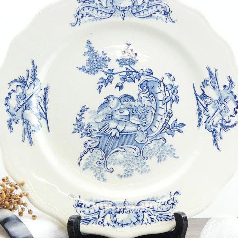 Assiette française Clairefontaine Terre de Fer 1890 - Antique French Plate Louis XV Clairefontaine Terre de Fer 1890 de la boutique…