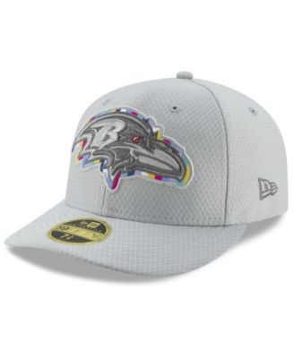 New Era Baltimore Ravens Crucial Catch Low Profile 59FIFTY Fitted Cap -  Gray 7 1 2 f0b0b94b8c1