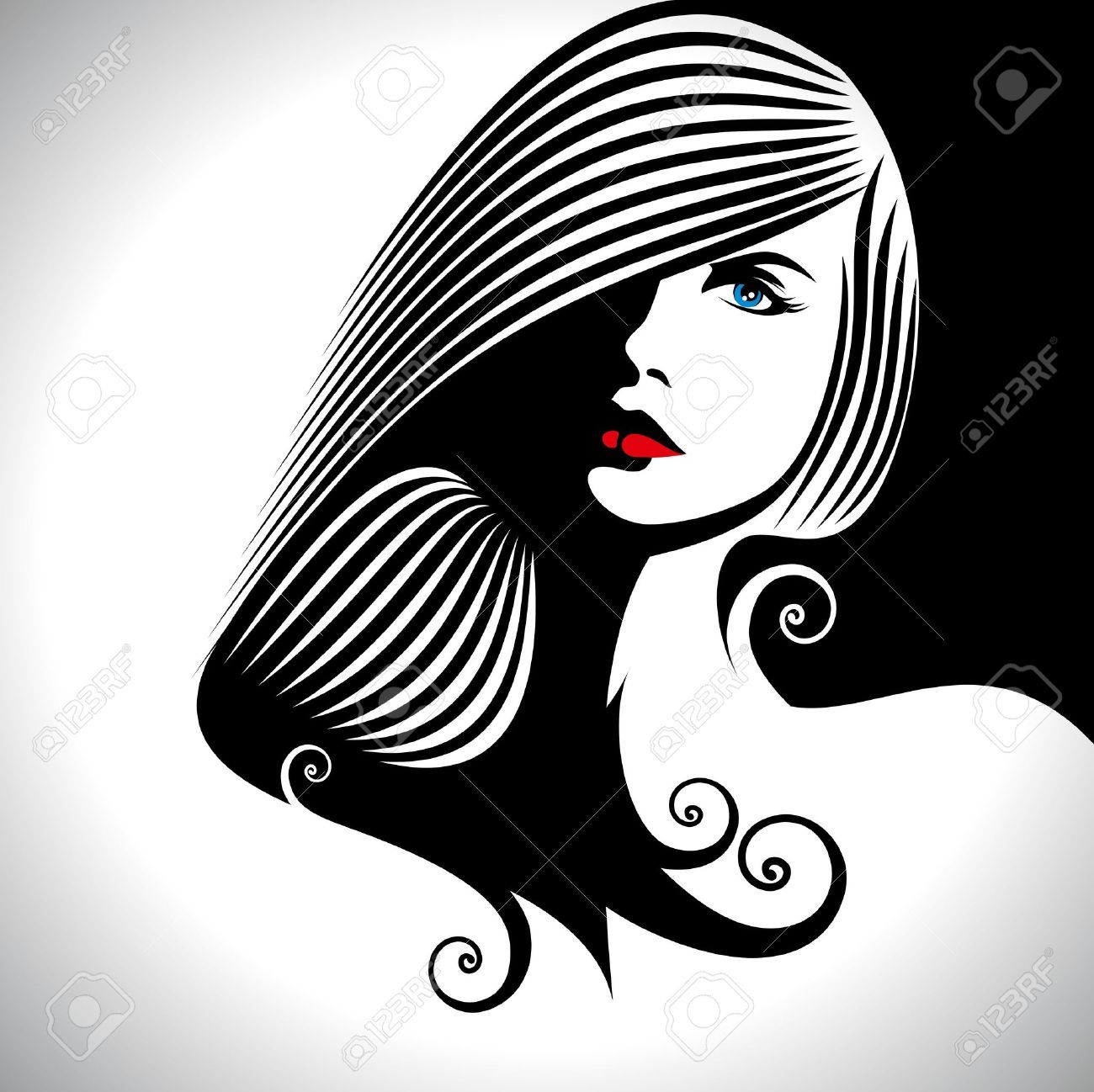 hair salon cliparts stock vector