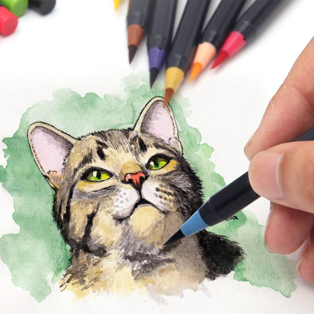 Watercolor Brush Pens Watercolor Brush Pen Watercolor Cat Pen