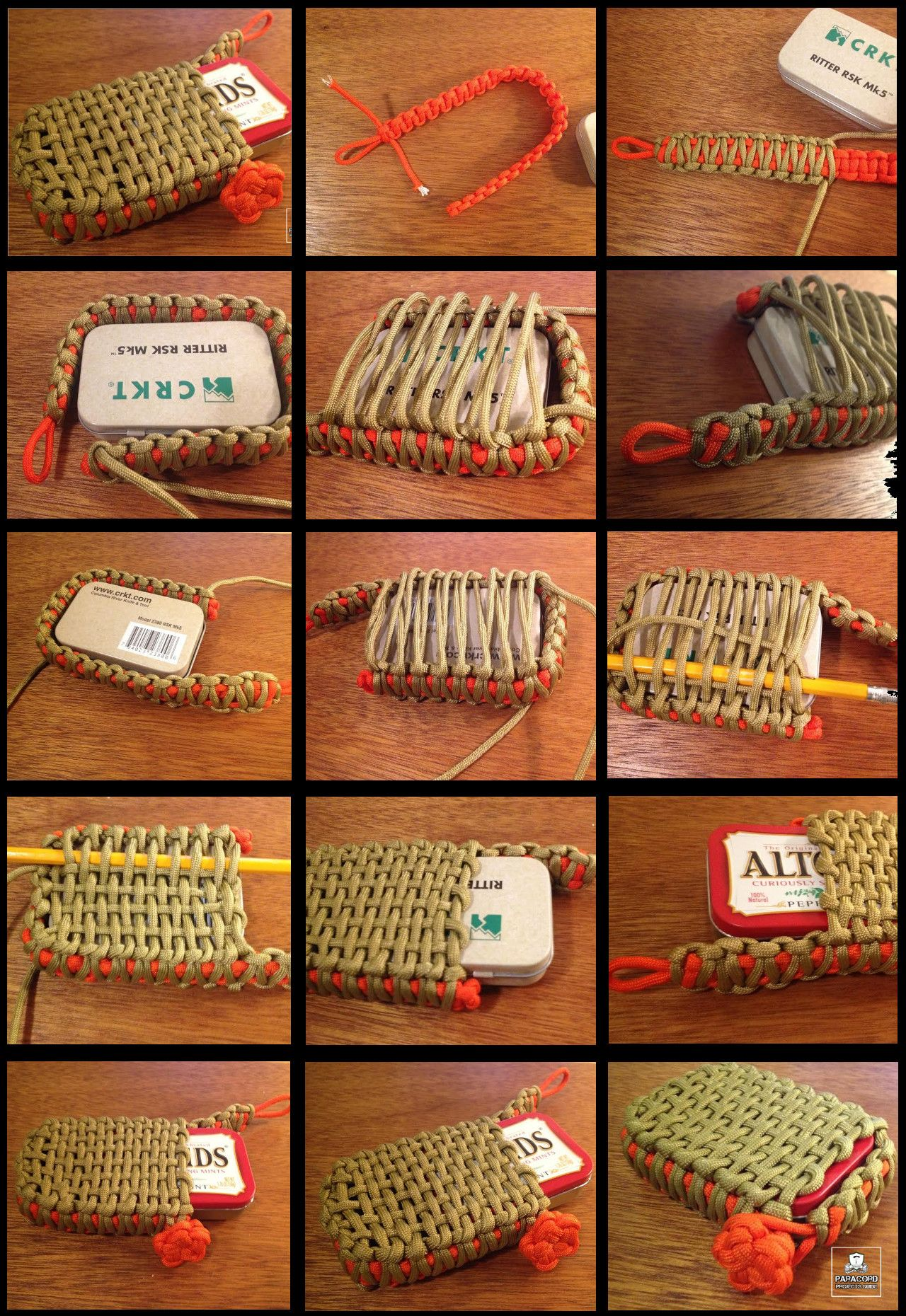 Survival tin paracord pouch or it can also be used to for How to make a paracord bag