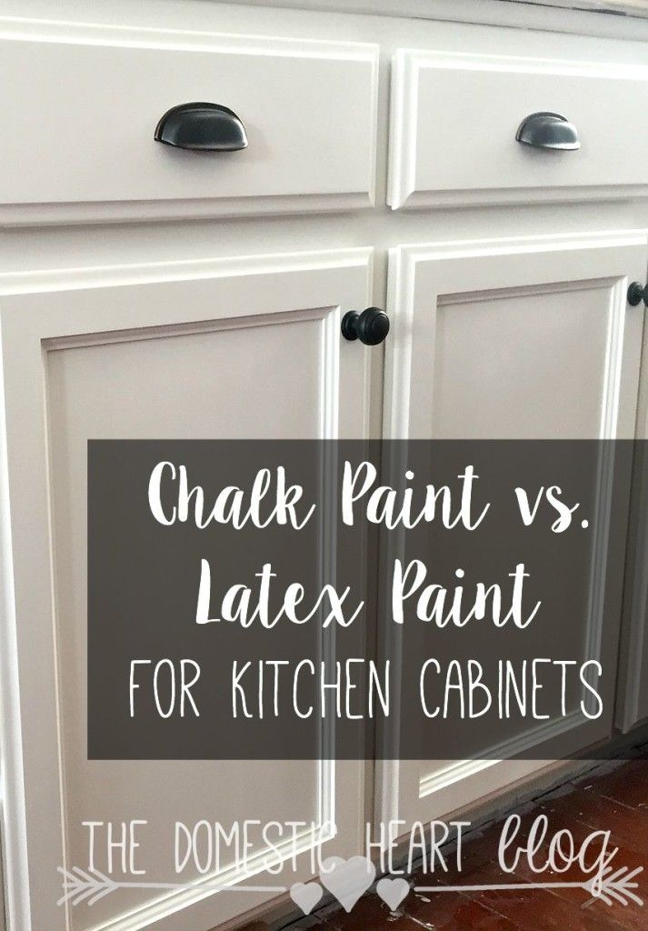 The pros and cons of chalk paint and latex paint when for Best latex paint for kitchen cabinets