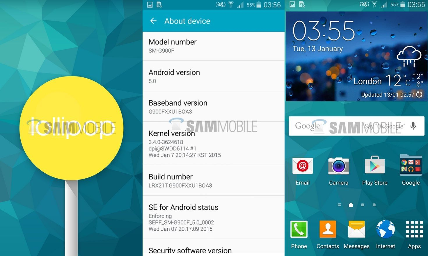 Android 5 0 G900FXXU1BOA3 Lollipop official update rolling
