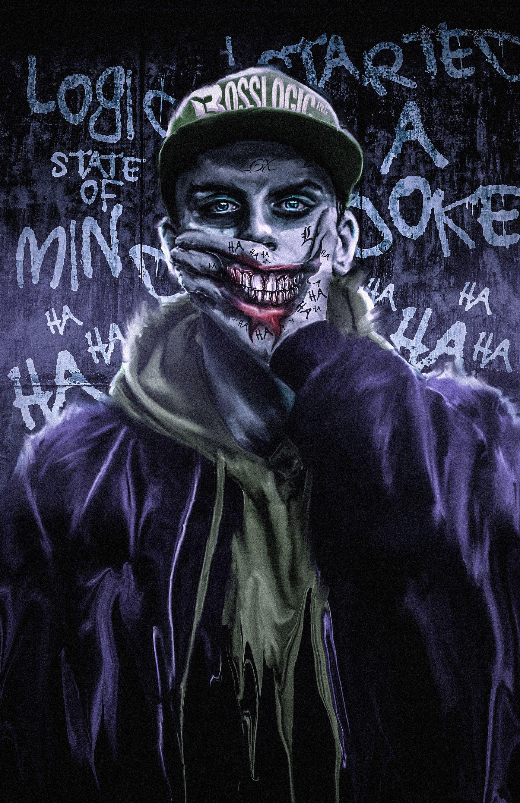 Artstation Mind Of Logic Kode Lgx Joker Wallpapers Joker Iphone Wallpaper Joker Smile Graffiti joker joker haha wallpaper