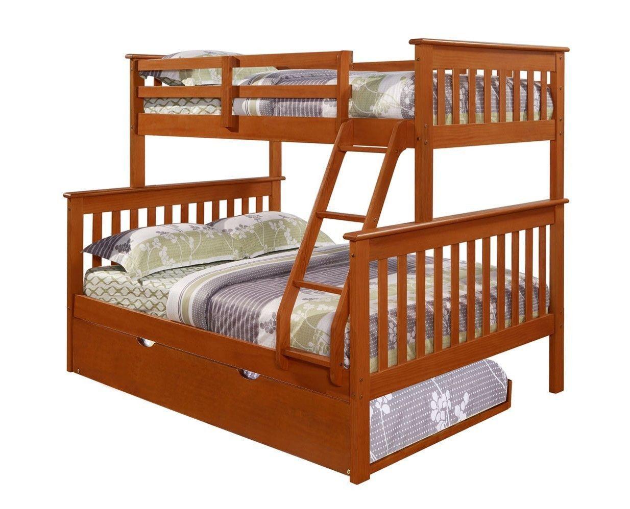 Jayden Espresso Twin Over Full Bunk Bed With Trundle Bed Dormitorios Camas Literas