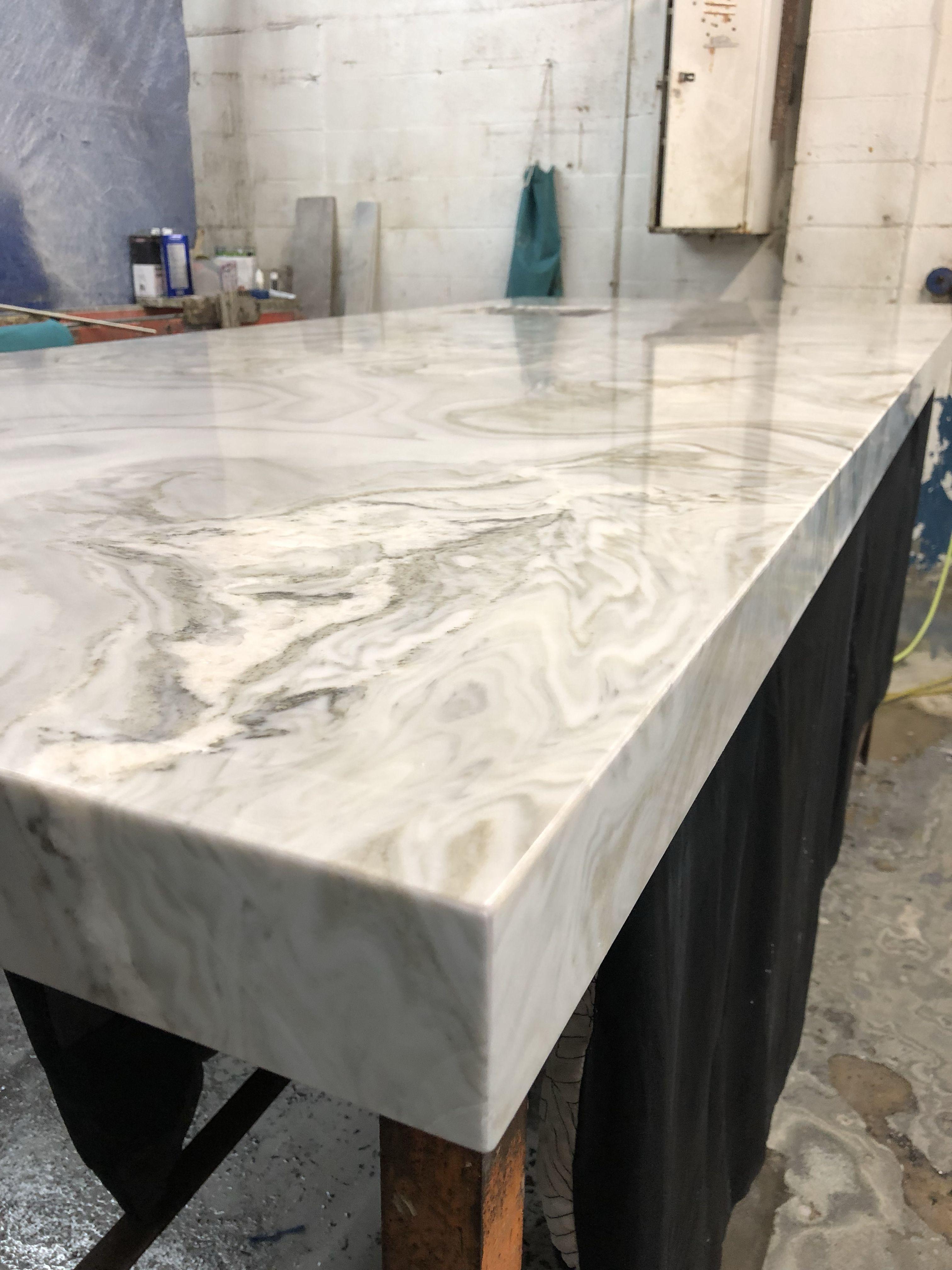 Avalanche Marble 3 Mired Edge Countertops Quartz Countertops