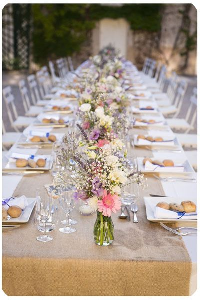 Id e d coration table mariage d co table pinterest - Idee deco mariage champetre ...