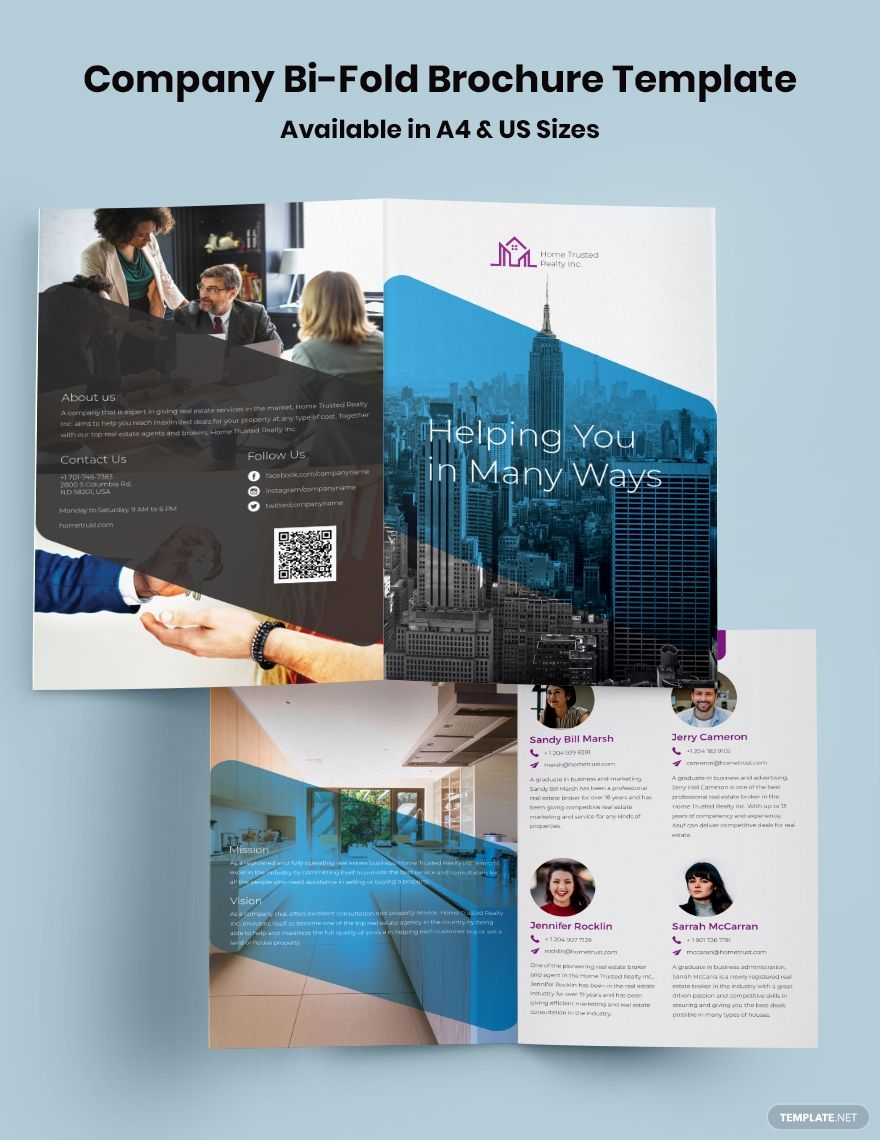 Company Bi Fold Brochure Template Free Publisher Illustrator Word Apple Pages Psd Template Net Bi Fold Brochure Brochure Template Free Brochure Template