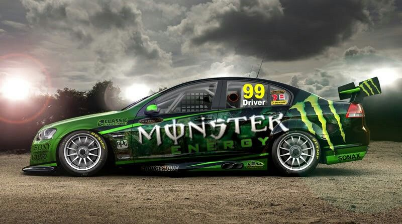 Monster Energy Livery Supercars Race Car Liveries