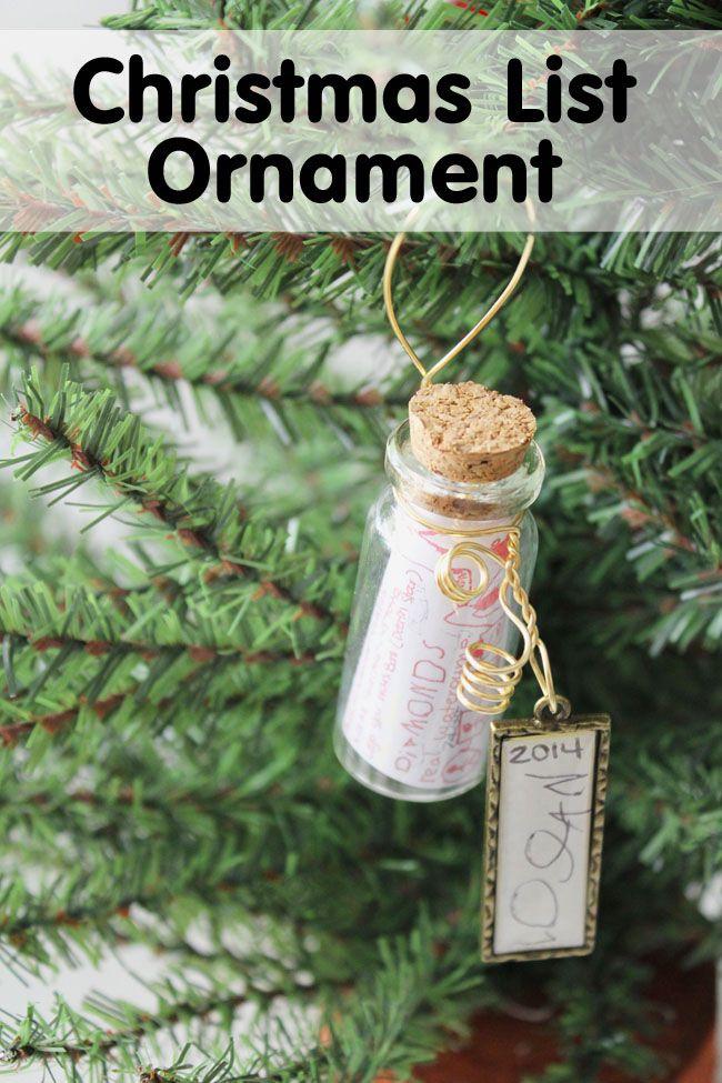 Christmas Wish List Ornament Diy Christmas Pinterest Christmas