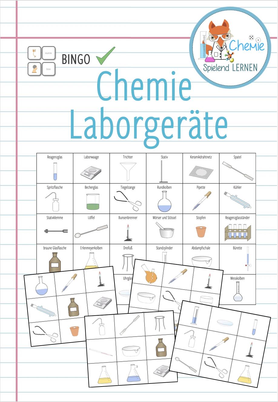 Laborgeräte chemie kartenspiel – unterrichtsmaterial in den ...