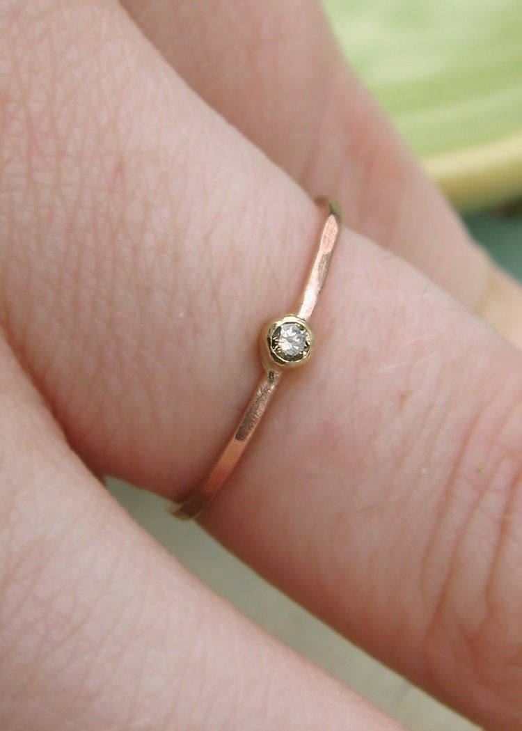 Chocolate Diamond and 14k Rose Gold Ring. $195.00, via Etsy ...