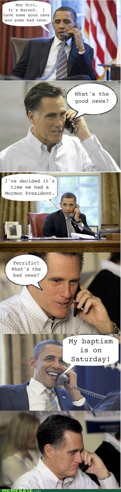 Mormon president - Mitt Romney and Obama - made me laugh  #LDS #funny